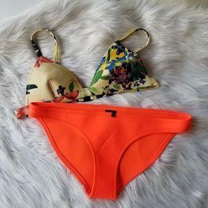 Triangl bikini orange floral small